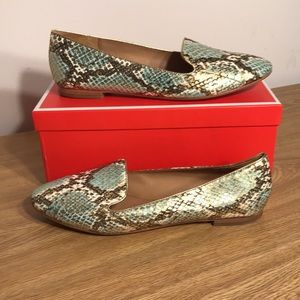 Coach Gold Tipped Snake Loafers
